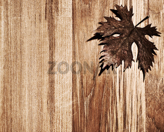 Autumn leaf wooden border