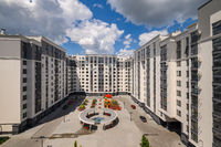 Typical brand new apartment building in Chisinau, Moldova