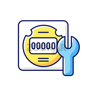 Electrical meter repair RGB color icon