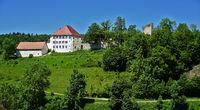 Castle Hettingen in the Lauchert valley, Swabian Alb, Germany