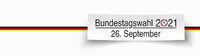 White Paper Banner Bundestagswahl 2021 German Flag 2
