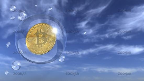 Bitcoin Bubble Sky