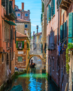 Scenic view of the Venetian canal