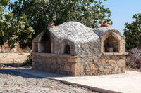 GEORGIOS, CYPRUS, GREECE, EUROPE - JULY 21 : View of a pizza oven in Georgious village in Cyprus on July 21, 2009
