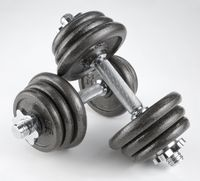 Pair of heavy dumbbells