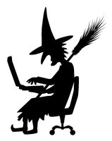 Witch Silhouette, Laptop
