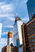 Skyscraper Under Construction in the Hudson Yards in New York