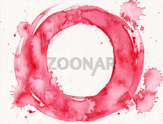 watercolor red circle splash