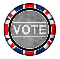 British Vote Button