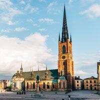 The church of Riddarholmskyrkan in Riddarholmen Island in Stockholm