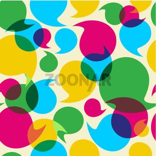 Social media bubbles pattern background