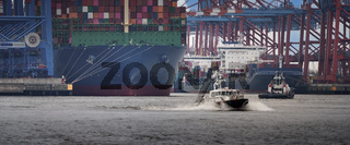 Container terminal in the port of Hamburg