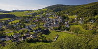 Landscape with the district of Duedinghausen in the city of Medebach, Sauerland, Germany