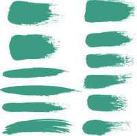 Mint Blot Set With White Background