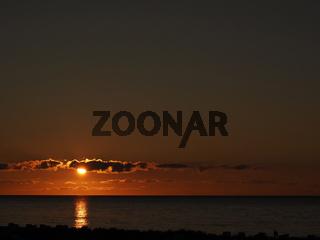 Beautiful sunset over the Baltic Sea