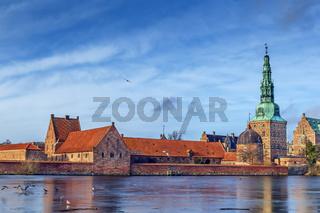 View of Frederiksborg slot, Denmark