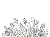 Easter background floral decoration