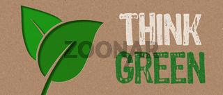 Paper cut - Think green