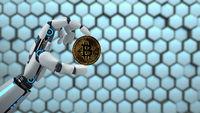 Robot Hand Bitcoin