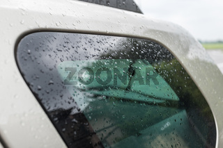 Raindrops on the car window