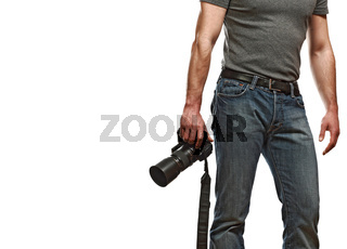 caucasian photographer
