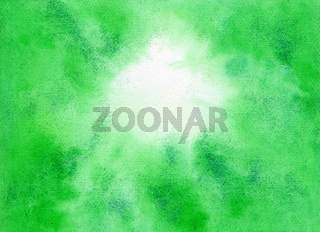 Watercolor Green Abstract Background With Glitter Spring