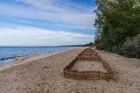 The beach in Lubmin, Mecklenburg-Western Pomerania, Germany