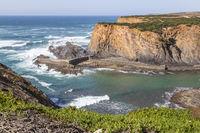 atlantic coast near of Porto das Barcas, Alentejo, Portugal
