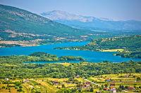 Peruca lake near Vrlika in Dalmatian Zagora