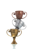 Golden, silver and bronze cup