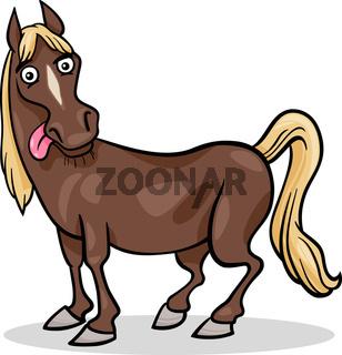 horse farm animal cartoon illustration