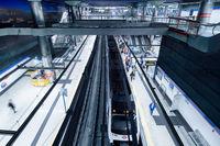 Inside of of Madrid subway, Spain