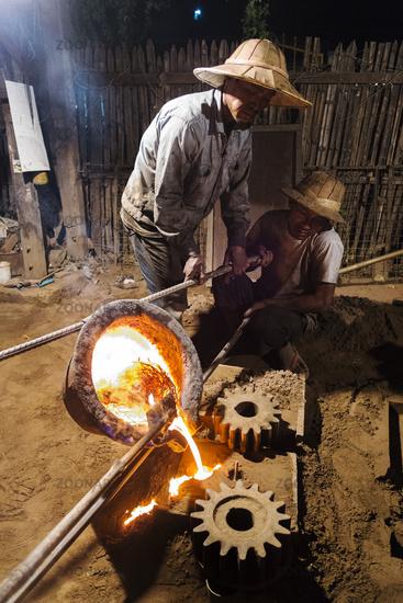 Metal Casting, Nyaung Shwe, Myanmar
