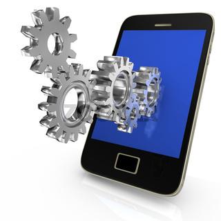 Gear Wheels Smartphone