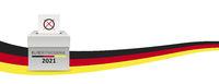 Header German Flag Bundestagswahl 2021 Vote Box Right