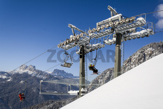 Lifts on the slopes of San Vito di Cadore