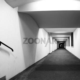 Perspective of corridor