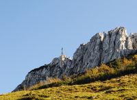 Chiemsee Kampenwand summit cross