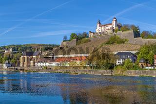 View of Marienberg Fortress, Wurzburg, Germany