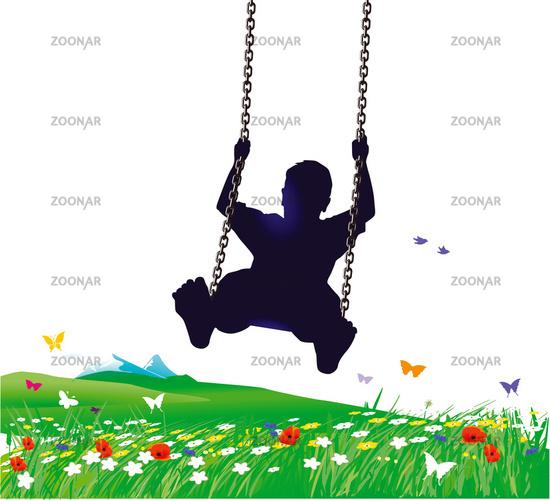 Swings in spring
