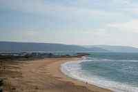 the beach and harbor of Barbate in Andalusia