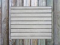 wooden memo board