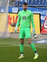 Bosnian football goalkeeper Avdo Spahic 1.FC Kaiserslautern DFB 3.Liga season 2020-21