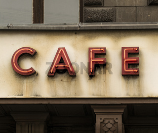 cafe neon reklame