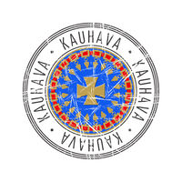 Kauhava city postal rubber stamp