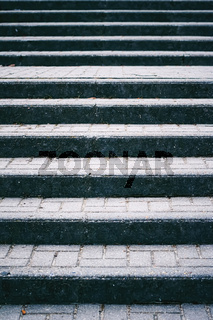 Urban concrete stairway, stairs steps in the city as background