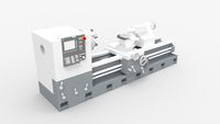 Lathe 3D rendering milling machine isolated in white studio background. Metal works