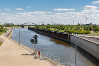 German channel near magdeburg from mittelland canal to Rothensee