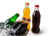 Soda Bottle on Bed of Ice