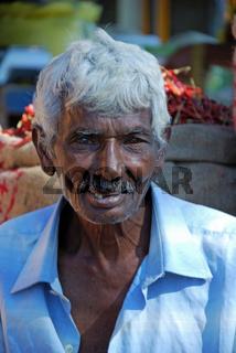 Alter Mann, Porträt, Sri Lanka, Ceylon, Südasien, Asien